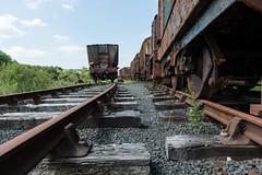 Dunaskin Ayrshire Scotland - Abandoned trains