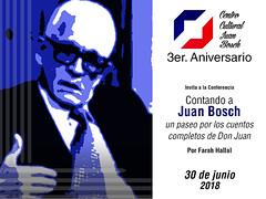 "3er Aniversario del Centro Cultural Juan Bosch - Cartel de la actividad • <a style=""font-size:0.8em;"" href=""http://www.flickr.com/photos/136092263@N07/28257035577/"" target=""_blank"">View on Flickr</a>"