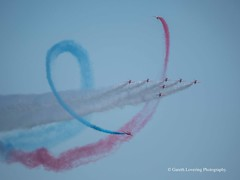 The Red Arrows at the Wales National Airshow 2018 06 30 #15 (Gareth Lovering Photography 5,000,061) Tags: wales airshow swansea beach raf theredarrows display olympus em10ii penf 45200mm 75300mm garethloveringphotography typhoon spitfire hurricane