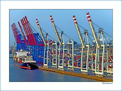 Container Terminal Tollerort Hamburg (Badenfocus_1.000.000+ views_Thanks) Tags: badenfocus hamburg hafen elbe tollerort container fujifilmx20 schiff vessel containerterminaltollerort