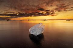 Iceberg at Sunrise, Diamond Beach, Jökulsárlón, Iceland (MelvinNicholsonPhotography) Tags: iceberg diamondbeach jökulsárlón iceland ice longexposure nisifilters canon5dmk4 benrotma48cxltripod benrogd3whgearedhead mindshiftbacklight36lbag fierysky fiery clouds