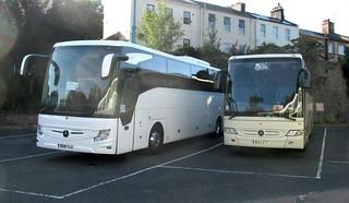 BD18TLU & BU13ZTT, Coach Station, Torquay, 15/07/18