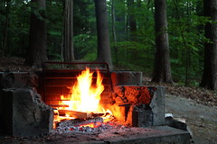 Camp (jonaskey) Tags: fire fireplace burn flame composition night camping woodland forest