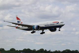 G-VIIH Boeing 777-200ER British Airways Landing at Dublin Airport for painting by IAC 19-7-18