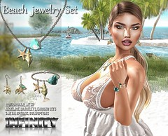 !NFINITY Beach Jewelry Set @ Mermaid Cove (infinity.owner) Tags: mermaid ocean mermaidcove sea beach jewelry necklace earrings bracelet beads starfish shell original mesh event flairforevents second life avatar secondlife