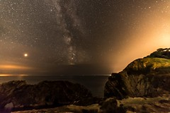 DEB_9224 (-TheDebster-) Tags: stars milkyway milky way night dorset lulworth portland sky planets geology rocks
