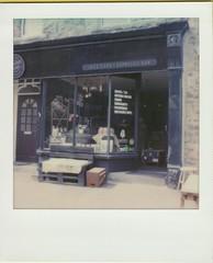 Moochin About Jazz Cafe (ifleming) Tags: polaroid sx70600 600colourfilm impossibleproject cumbria arnside moochingaboutjazzcafe