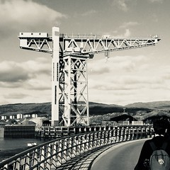 Titan, Clydebank (Al 72) Tags: scotland 2018 iphone iphoneography crane clydebank glasgow shipbuilding industry bw blackandwhite