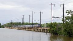 Southbound Over The Bush River (DJ Witty) Tags: amtrak acs64 electriclocomotive passengertrain railroad rr bushriver maryland nikon d610