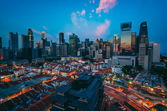 Chinatown Wide (hackdragon) Tags: hdr chinatown singapore city cityscape sky cloud skyscraper long exposure low light reflection sunset glass wallpaper beautiful amazing asian asia travel sony a7r ii laowa 15mm f2