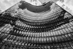 Flip Book (Leipzig_trifft_Wien) Tags: wien österreich at architecture reflection facade mirror modern contemporary skyscarper building windows black white bnw blackandwhite contrast