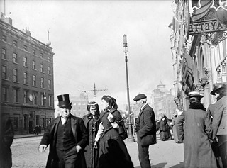People walking on Westmoreland Street