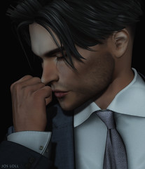 Your scent (Jos Loll) Tags: fist hand smell scent portrait suit tie