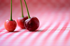 Red round trio (victoriameyo) Tags: smileonsaturday redroundtrio cherries cherry red three still life berries fruits round natural bright color delicious