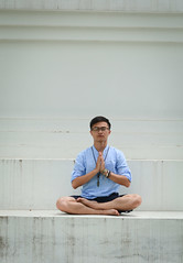An Asian man practicing yoga meditation (phuong.sg@gmail.com) Tags: asia asian balance beauty body china concentration culture devotional exercise fitness green harmony health hindu hinduism india indian landscape male man meditating meditation mudra nature outdoor padmasana pose posture practice religion spiritual stretch temple traditional wellness workout yoga yogi young