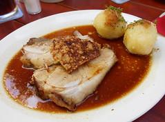 Schweinebraten (anwarnieninqe) Tags: schweinebraten kartoffelknödel pork roast dumplings
