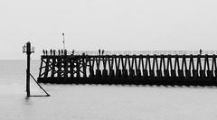 fishermen (Mr Ian Lamb 2) Tags: fishermen pier blyth coast monochrome bandw northsea silhouette mono
