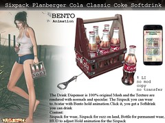 No59 Softdrink Wood Sixpack Caro Cola Classic (Caroline Planer) Tags: softdrink sixpack cola coke wear animation drink bento carrier