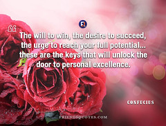 Confucius Quote will win desire succeed (Friends Quotes) Tags: chinese confucius desire door excellence full keys personal philosopher popularauthor potential reach succeed unlock urge will win