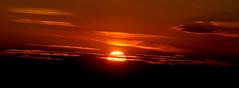 Dipping down (SteveJM2009) Tags: sunset clouds colour sun sandbanks poole harbour july 2018 summer stevemaskell