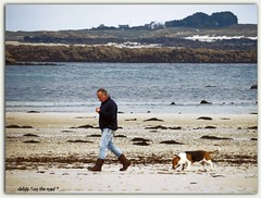 promenade matinale (dalida '' on the road '') Tags: france bretagne mer plage