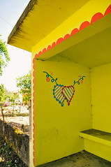 bus shelter art in Vila Verde, Braga (Gail at Large | Image Legacy) Tags: 2018 braga minho portugal vilaverde busshelter gailatlargecom streetart