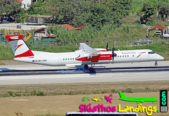 "OE-LGM Austrian Airlines Dash8-400 • <a style=""font-size:0.8em;"" href=""http://www.flickr.com/photos/146444282@N02/29759392808/"" target=""_blank"">View on Flickr</a>"