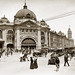 Circa 1908-1914 - FLINDERS STREET STATION, MELBOURNE, Victoria, Australia (restored version)