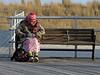 All Bundled Up (Multielvi) Tags: atlantic city new jersey nj shore boardwalk bench woman candid
