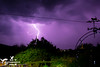 Lightning Storm Freshwater IOW (SLHPhotography1990) Tags: lightning storm thunder weather spectacle event heat light strike bolt purple sky cloud apocalyptic garden night photo photography isleofwight freshwater weathervane vane cat metal art april 2018