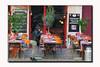 Menu de la Semaine --15.90 E (The Bop) Tags: chairs tables menu plants signs doors cleaner napkins table cloth glasses outside restaurant