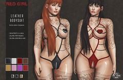 [RED GIRL] Leather Bodysuit (Ju Rhys) Tags: xxxevent redgirl leatherbodysuit maitreya slink slinkhourglass slinkphysique bdsm erotic adult