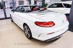 Mercedes C 220d 4M AMG Cabriolet | 170 c.v | Blanco | Piel Roja| Auto Exclusive BCN