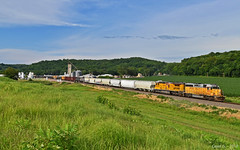 """Eastbound Manifest in Rushville, MO (""""Righteous"""" Grant G.) Tags: up union pacific railroad railway locomotive train trains east eastbound manifest freight emd ge power missouri bnsf wp"""
