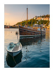 Sea Charter (Dave Fieldhouse Photography) Tags: mevagissey harbour boats boat dinghy calm still sea coast coastal seaside southwestcoastpath cornwall cornish cornwalllife sunrise sunshine summer may earlysummer fuji fujifilm fujixt2 wwwdavefieldhousephotographycom seascape