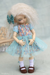 Summer 2018 set for LittleFee (Yumi♡) Tags: littlefee yumistudio sewing outfit handmade dollclothes yosd doll bjd cute tiny cotton lace tulle bow