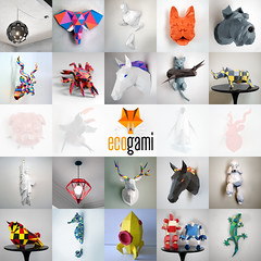 Ecogami Paper Models (all things paper) Tags: ecogami papertrophy lowpoly papersculpture papercraft papermodel animalhead paperlighting