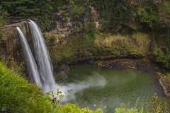 Wailua Falls (lycheng99) Tags: wailuafalls wailua falls kauai hawaii waterfall flow water splash pool nature landscape longexposure travel vacation landmark tropics island rainfall