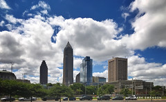 Cleveland (mswan777) Tags: mobile iphone iphoneography apple ohio cleveland travel outdoor museum center architecture white blue cloud sky tall downtown cityscape city skyscraper tower