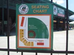 Stadium Map at Grainger Stadium -- Kinston, NC, June 28, 2018 (baseballoogie) Tags: 062818 baseball baseball18 baseballpark ballpark stadium graingerstadium canonpowershotsx30is downeastwoodducks woodducks carolina league a milb kinston nc northcarolina
