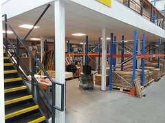Fire protected industrial mezzanine floor (Mezzanine floors) Tags: industrial mezzanine floor fire protection column casings bulkhead fascia suspended ceiling llonsson ltd london