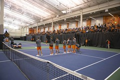 Oklahoma State Cowboys vs Oklahoma Sooners Tennis Match, Saturday, April 21, 2018, Greenwood Tennis Center, Stillwater, OK. Bruce Waterfield/OSU Athletics (OSUAthletics) Tags: 2018 osu big12 cowboys greenwoodtenniscenter menstennis oklahoma oklahomastateuniversity ou seniorday sooners tennis universityofoklahoma