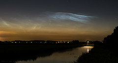 Noctilucent Clouds, July 14th 2018 (mesocyclone70) Tags: nlc nocturnal noctilucentclouds undulatus waves clouds ribbles holland netherlands water dusk sunrise summer spaceweather weather