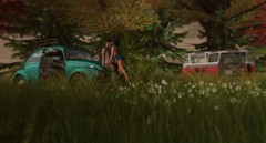 Volkswagen Camping (Mr. Eric More) Tags: volkswagen vw camper camping beetle secondlife flowers forest