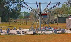 Kiddie Swing Ride, Kirby Family Farm, Williston, Florida (gg1electrice60) Tags: kirbyfamilyfarm amusements amusementpark amusementsfordisadvantagedchildren amusementsforcriticallyillchildren comfortforcriticallyillchildren openingin2019 19650ne30thstreet 19650northeast30thst 1965030thstreet 19650nethirtiethst levycounty florida fl unitedstates usa us america specialevents trainrides focusonrailroadagriculturalhistory farm kiddierides carnivalrides bluesky sweeps kiddieswingride kiddeswings concretepad militarytruck boxtruck trees grass armytents williston