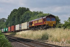 The Worting Climb (JohnGreyTurner) Tags: br rail uk railway train transport diesel engine locomotive worting junction basingstoke hampshire 66 shed emd class66 liner ews db dbs dbc freight