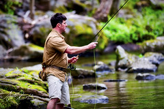 Man vs River (Angelo Bufalino - Avstock.net) Tags: fishing flyfishing nature outdoors smoky smokymountains nikon d810 lee leefilters