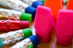 Macro Mondays:  Eraser(s) (Glotzsee) Tags: macromondays erasers