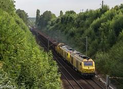 Le 66108 Tergnier-Sotteville à Maurecourt (78) (bb_17002) Tags: railway train locomotive automotrice landscapes ville city transport bb75000 infra sncf fret tergnier sotteville wagons