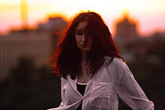 H E L E N A N O I S E (svetosiloff) Tags: sunsetportrait sunset roof girlontheroof fairhair girlwithtattoos